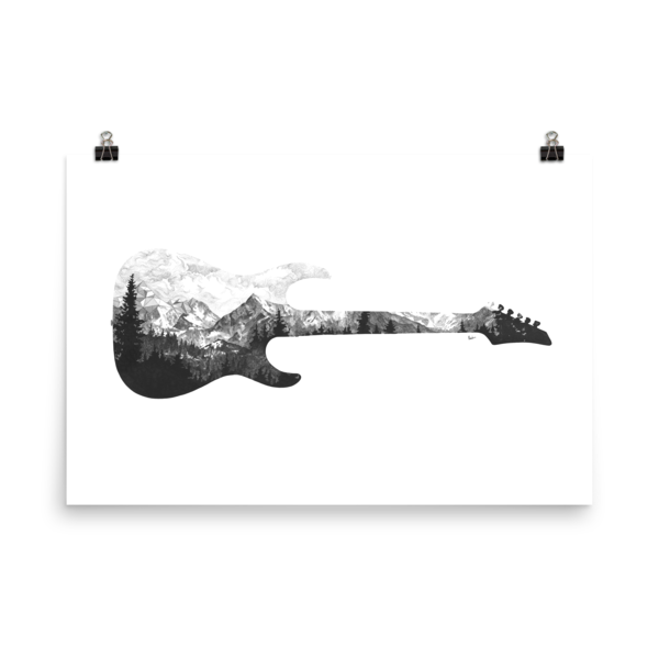 Limited Edition Guitar Art Print