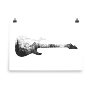 Guitar Print – Poster Edition (24×36)